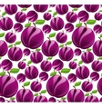 Plum seamless pattern vector image vector image