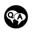 quiz speech bubble icon design vector image