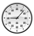 realistic 12 to 24 hour military time clock vector image vector image