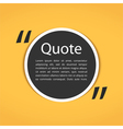 Round Text Box with Quotes vector image