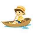 Rowing boy vector image vector image