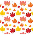 seamless autumn leaves background pattern vector image vector image