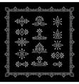 Set of Vintage Graphic Elements for Design Line vector image vector image