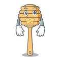 silent honey spoon mascot cartoon vector image