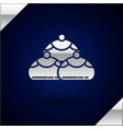 silver jewish sweet bakery icon isolated on dark vector image vector image