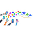smart home control realistic hands holding vector image vector image