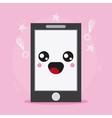 smartphone icon Kawaii and technology vector image vector image