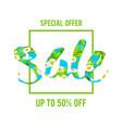 special offer sale lettering vector image