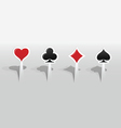 Stickers with playing card signs vector image vector image