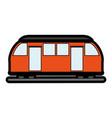subway transport fast flat vector image