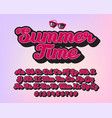 summet time - lettering alphabet vector image vector image