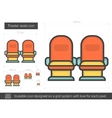 Theater seats line icon