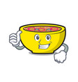 Thumbs up soup union character cartoon