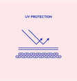 uv reflection skin after protection flat vector image vector image