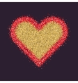 Valentine s Day symbol Heart Red sparkles and vector image