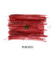 watercolor painting design flag of morocco vector image vector image