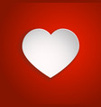 white paper cut love heart for valentine s day vector image