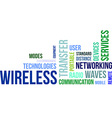 word cloud wireless vector image