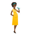 young african pregnant woman drinking water vector image vector image