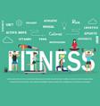 young people doing workout vector image vector image