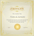 Diploma or Certificate Design Template vector image