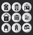 House and Building icon set vector image