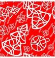 christmas tree seamless texture vector image