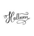 lettering word halloween vector image