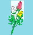 rose flower bouquet vector image