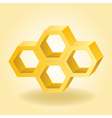 Abstract 3d honeycomb background vector image