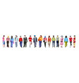 multiethnic group of people banner vector image