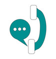 telephone instant message conversation icon image vector image