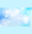 abstract natural blue sky blurred light bokeh vector image vector image