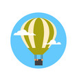 air balloon icon isolated summer vacation vector image