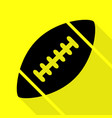 american simple football ball black icon with vector image vector image