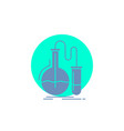 analysis chemistry flask research test glyph icon vector image vector image