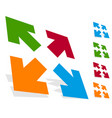 arrows in 4 direction - resize align maximize vector image vector image