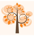autumn tree icon vector image vector image