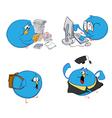blue bird students vector image vector image
