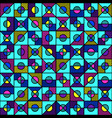 bright geometric seamless pattern in style the vector image vector image