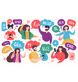 chatting characters social networking people vector image