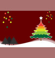 christmas background with christmas tree colorful vector image vector image