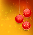 christmas ball in orange background vector image vector image