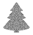 Christmas tree isolated halftone design elements vector image vector image