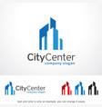 city center logo template design emblem design vector image