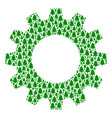 cogwheel mosaic of fir-tree icons vector image