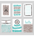 Collection of hand drawn cards and invitations vector image vector image