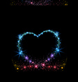 colorful sparkling heart vector image vector image