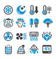 cool icon set vector image vector image