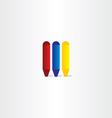 crayons icon design element vector image vector image